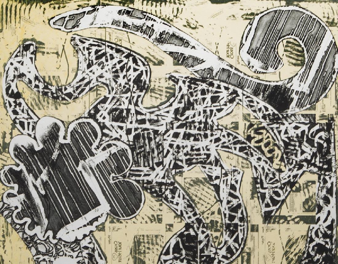 "Frank Stella ""Green Journal"" etching, screenprint, - 3"