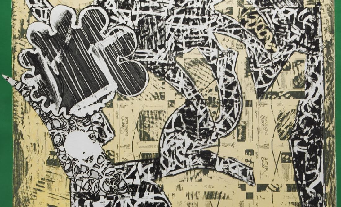 "Frank Stella ""Green Journal"" etching, screenprint, - 4"