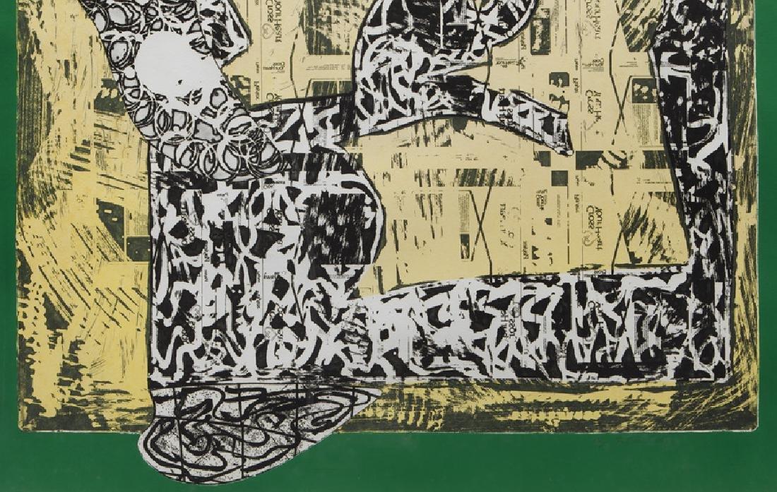 "Frank Stella ""Green Journal"" etching, screenprint, - 5"