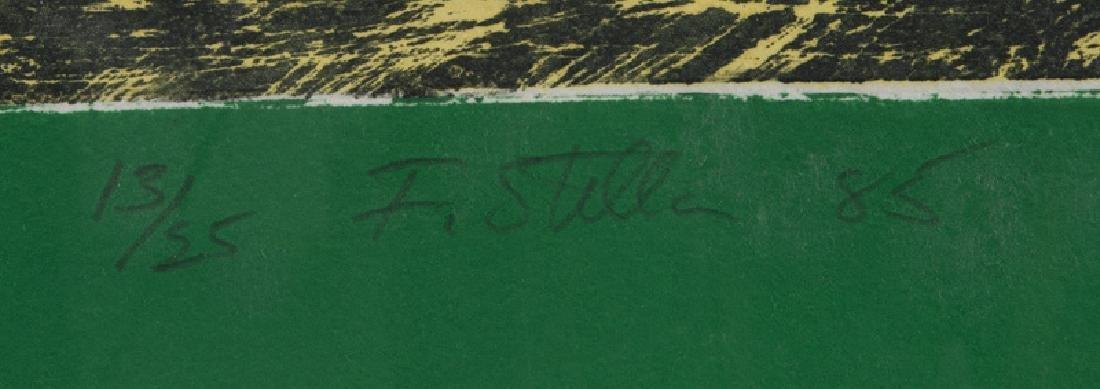 "Frank Stella ""Green Journal"" etching, screenprint, - 6"