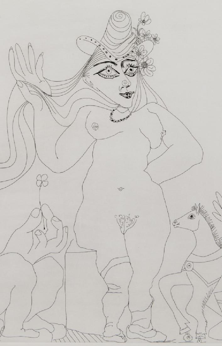 """Pablo Picasso """"Le trefle a quatre feuilles - 4"""