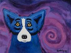 "George Rodrigue ""Sweet Dreams of You"" acrylic on"