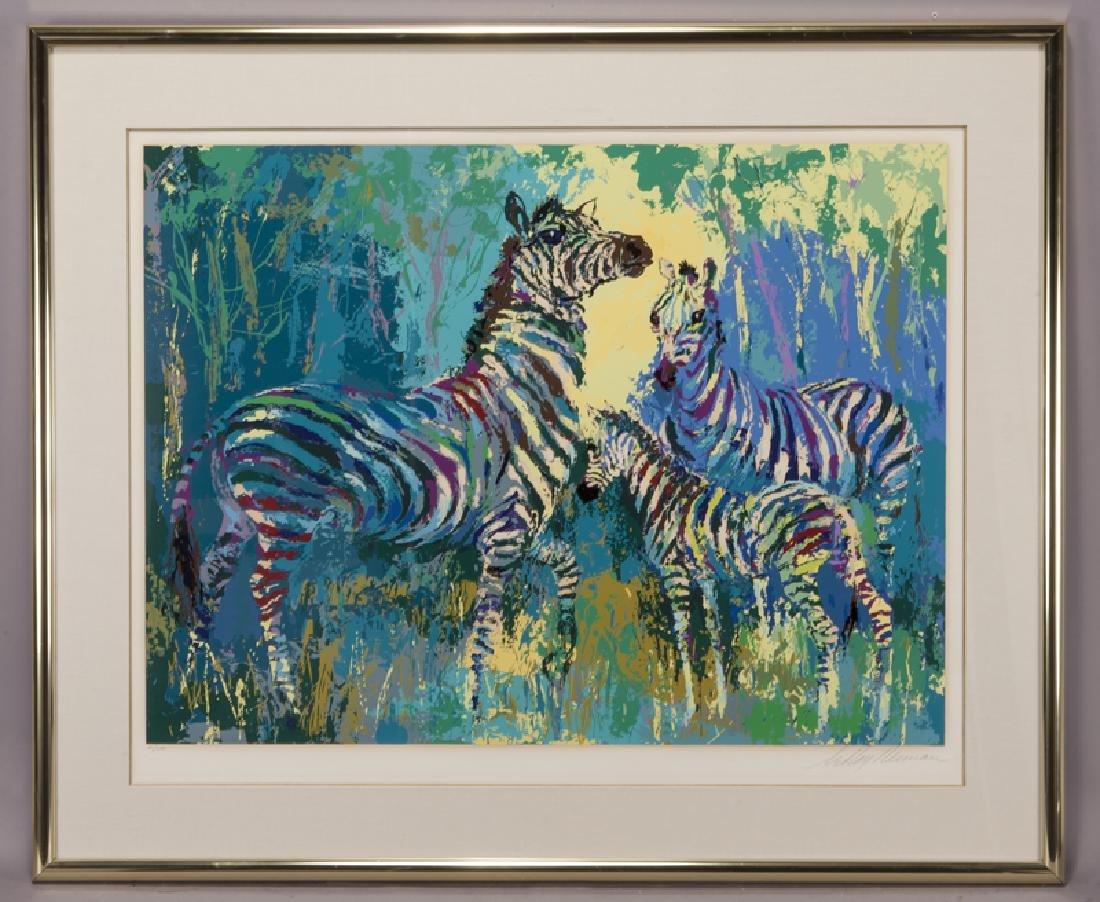 "LeRoy Neiman ""Zebra Family"" serigraph, 1978. - 2"