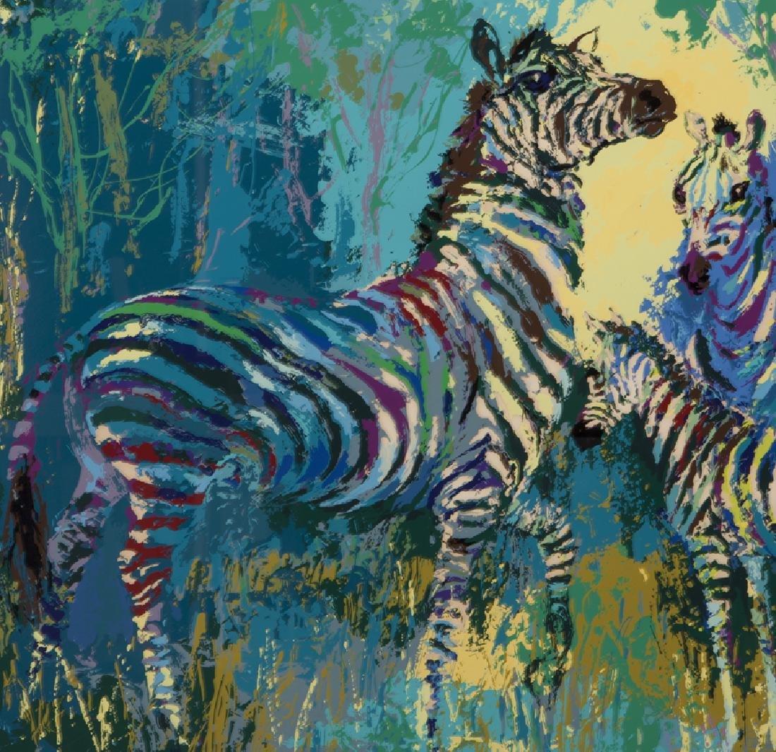 "LeRoy Neiman ""Zebra Family"" serigraph, 1978. - 3"