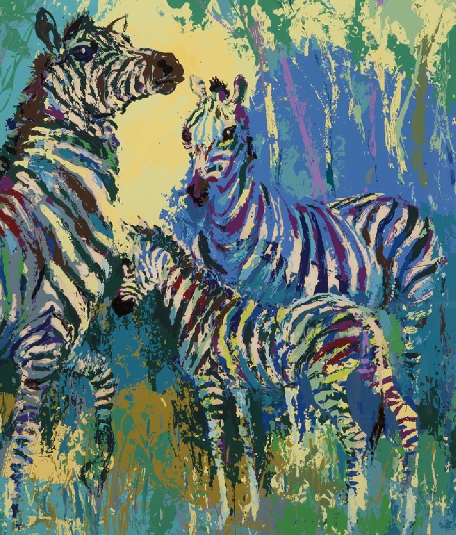 "LeRoy Neiman ""Zebra Family"" serigraph, 1978. - 4"
