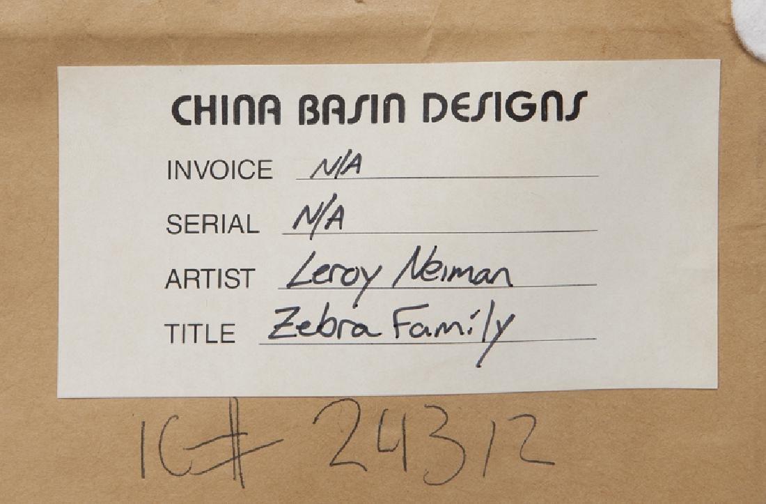 "LeRoy Neiman ""Zebra Family"" serigraph, 1978. - 8"