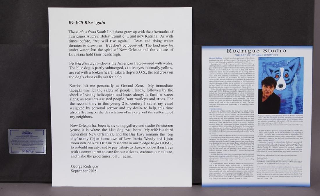 "George Rodrigue ""We Will Rise Again"" silkscreen, - 6"