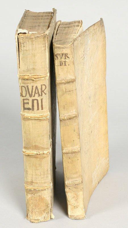 17: (2) 16th and 17th Century vellum bound books