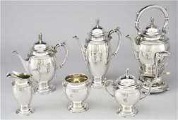 93 6 Pc Gorham Sterling silver tea set including