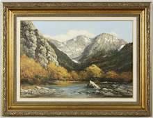 137: Robert William Wood oil painting on canvas western