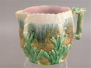"""Etruscan Majolica """"Shell & Seaweed"""" pitcher"""
