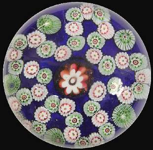 19th C. Bohemian paperweight with a