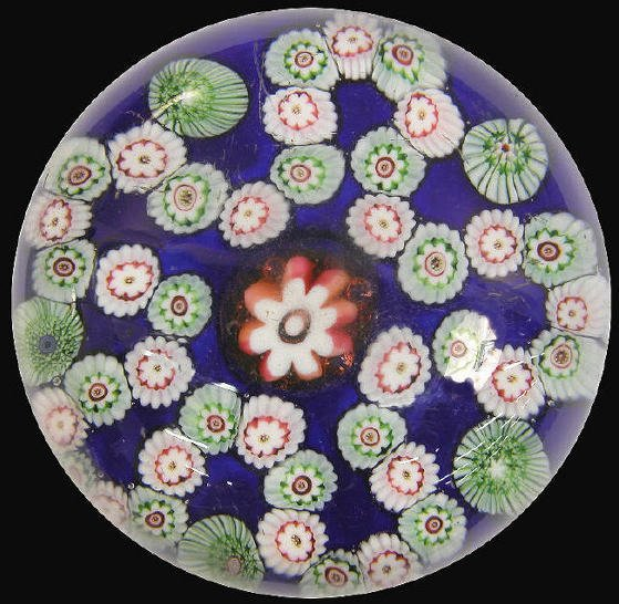 15: 19th C. Bohemian paperweight with a