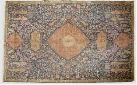 161: An antique Sivas Oriental rug with a lion