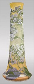 170: Monumental 3-color Galle French cameo vase,