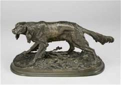 290 Pierre Jules Mene bronze figure of a spaniel