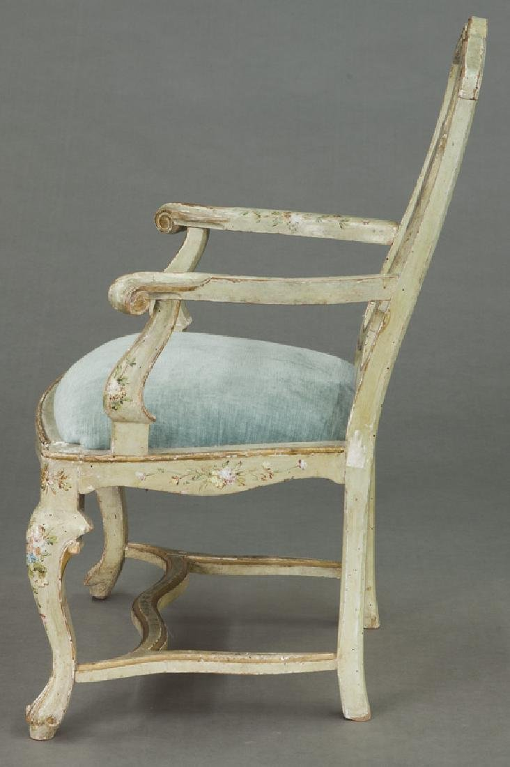 Venetian style painted armchair - 3