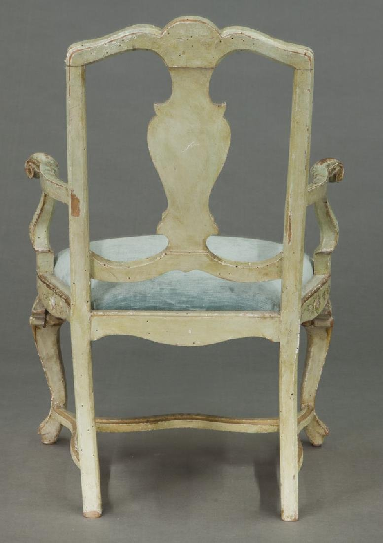 Venetian style painted armchair - 4