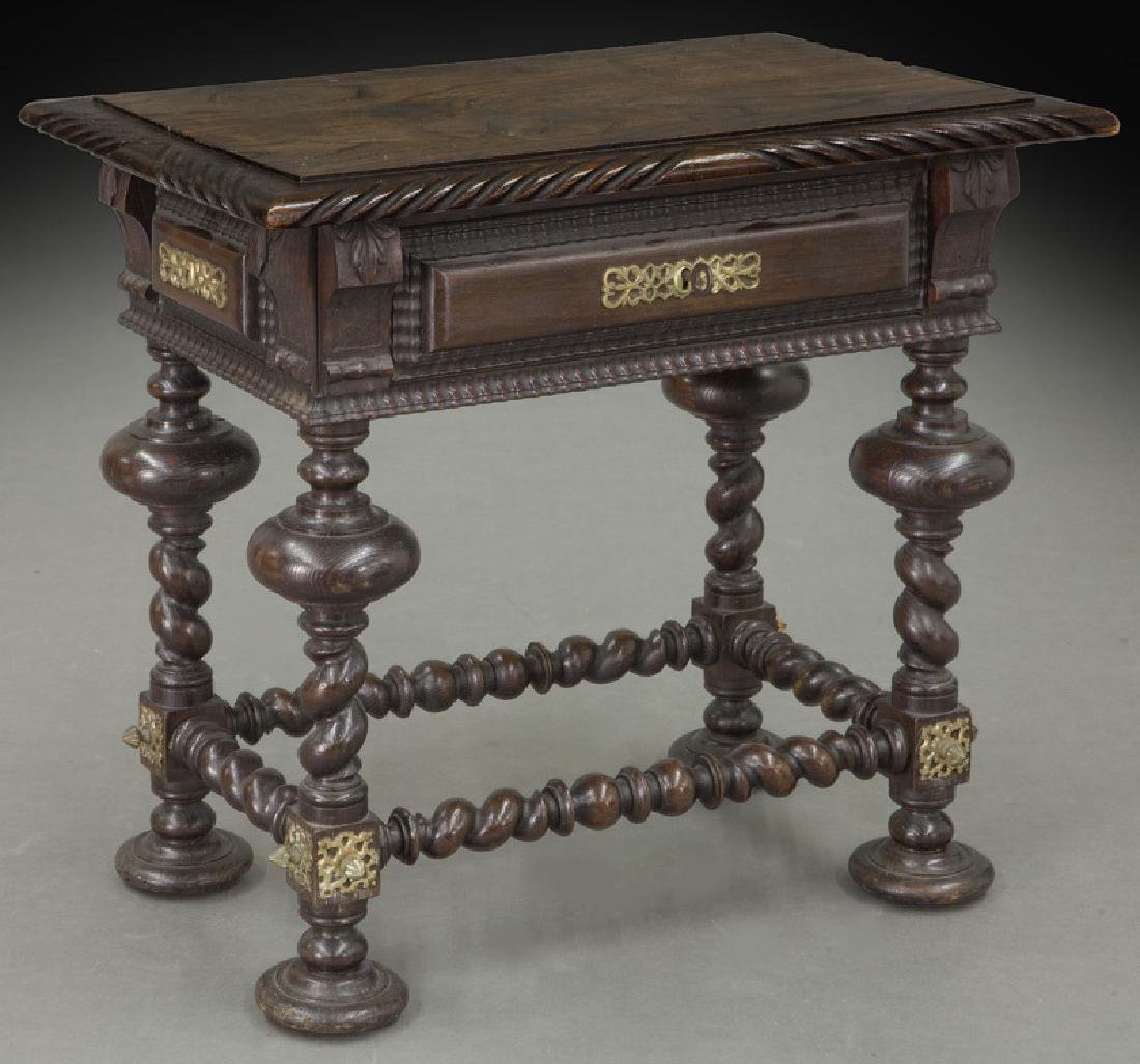 Portuguese carved wood occasional table,