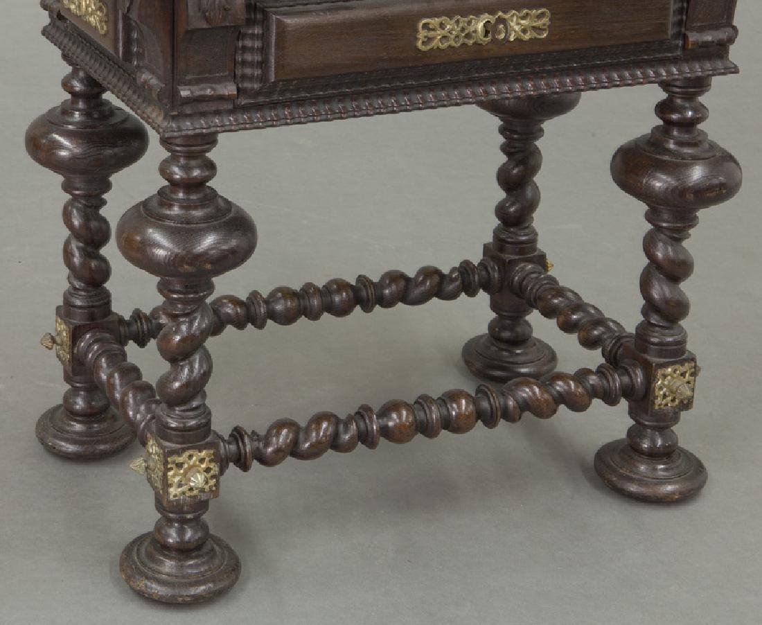 Portuguese carved wood occasional table, - 8