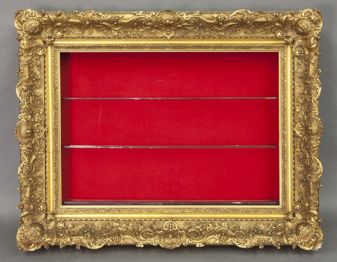 Belle Epoque giltwood shadowbox frame,