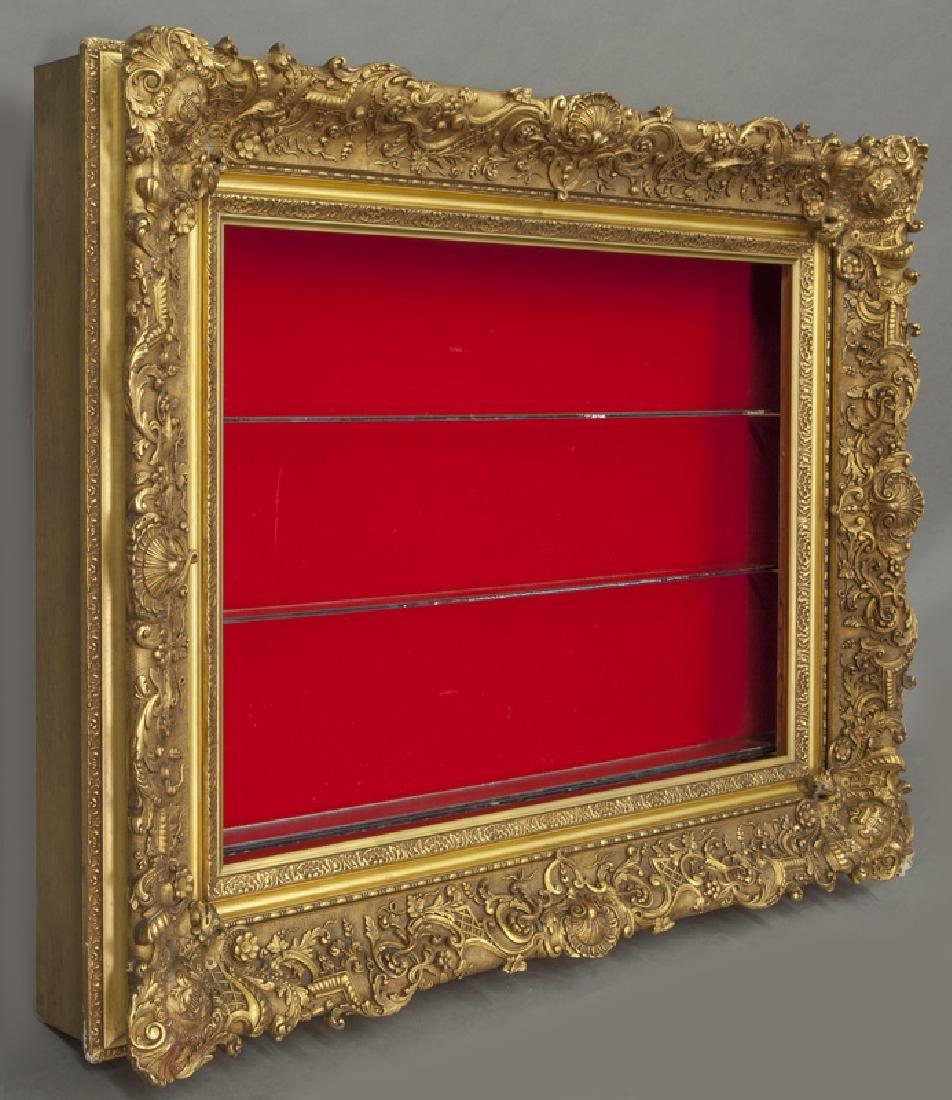 Belle Epoque giltwood shadowbox frame, - 2