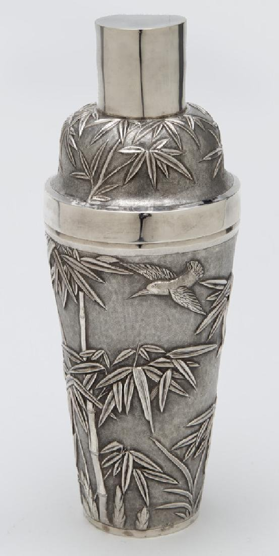 Chinese export sterling silver cocktail shaker