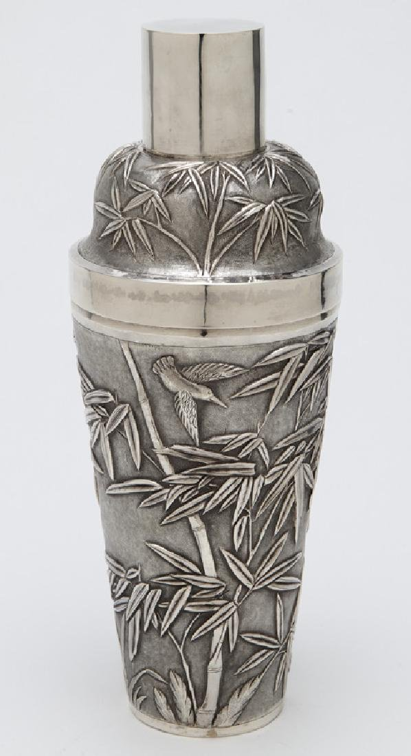 Chinese export sterling silver cocktail shaker - 2