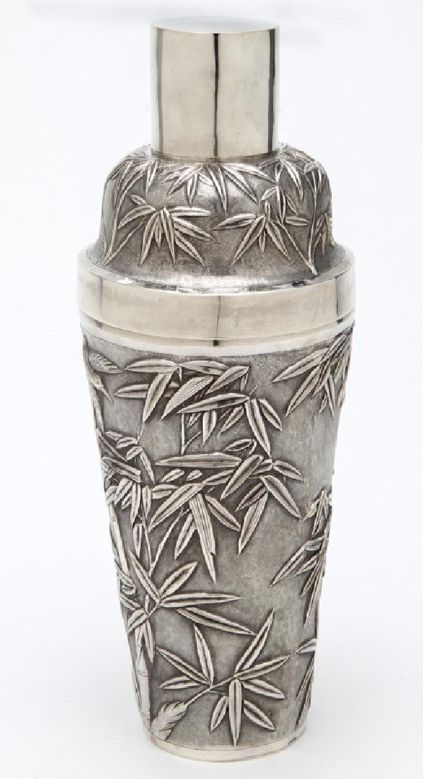 Chinese export sterling silver cocktail shaker - 3