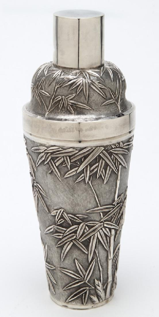 Chinese export sterling silver cocktail shaker - 4