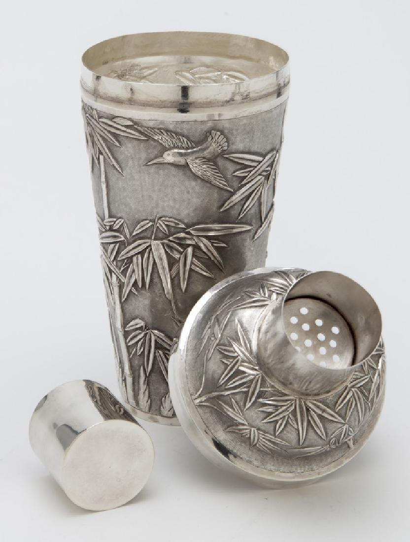Chinese export sterling silver cocktail shaker - 6