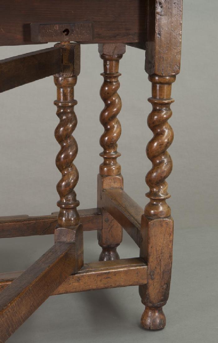 Early oak barley twist gateleg table, - 10