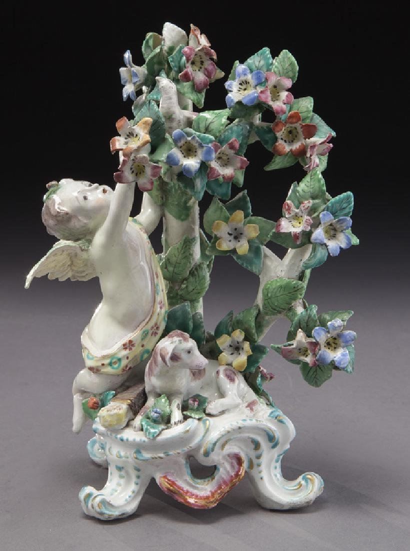 18th C. English Bow porcelain figural group