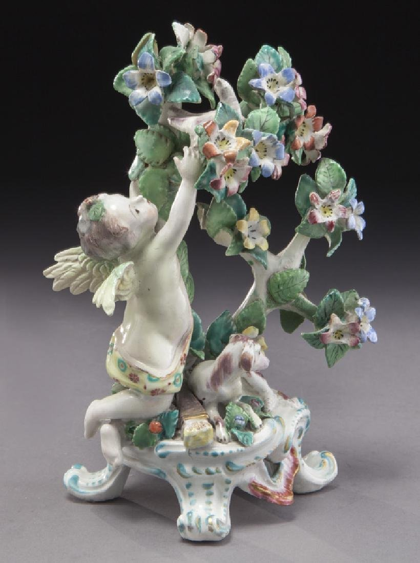 18th C. English Bow porcelain figural group - 2