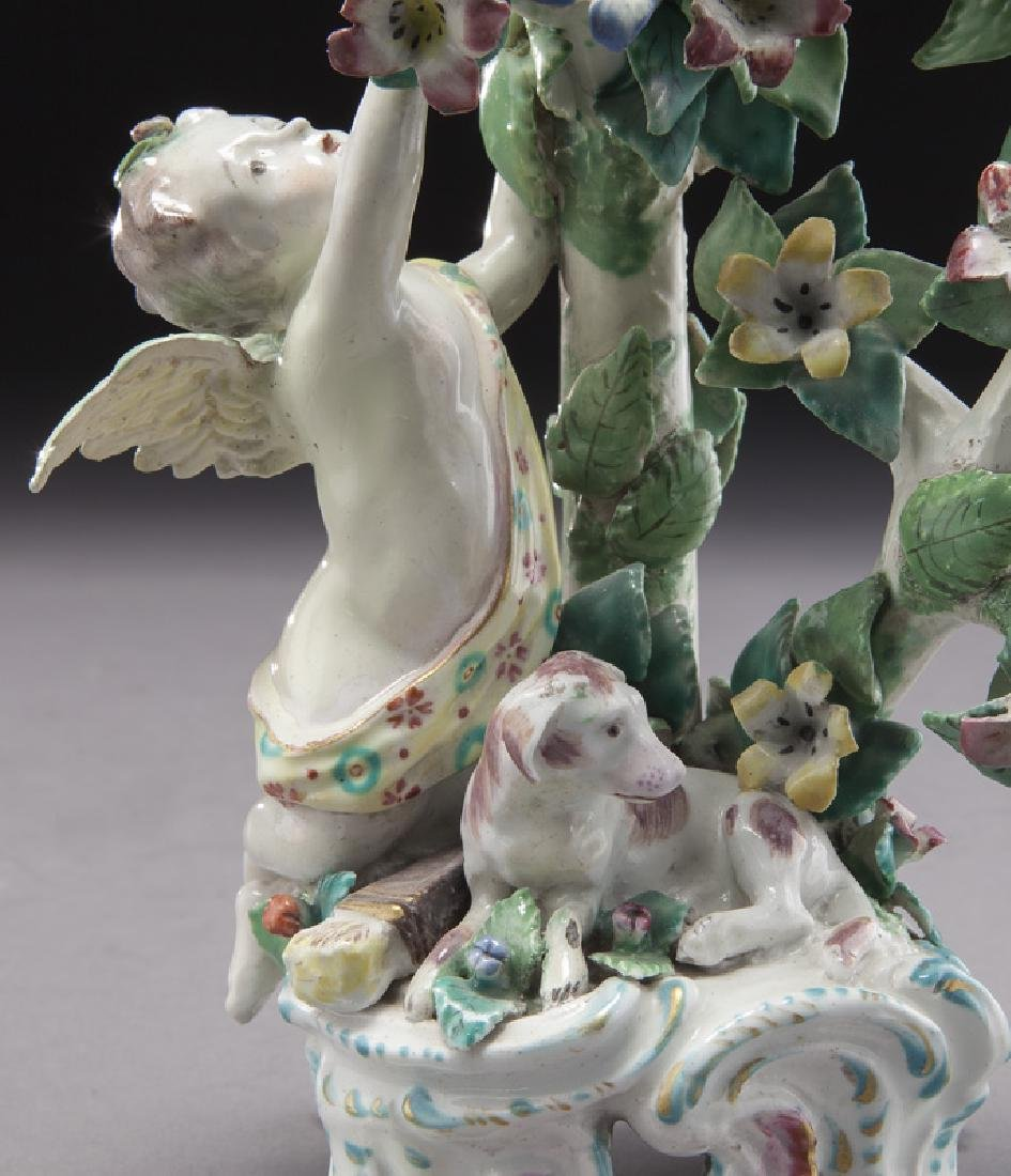 18th C. English Bow porcelain figural group - 6