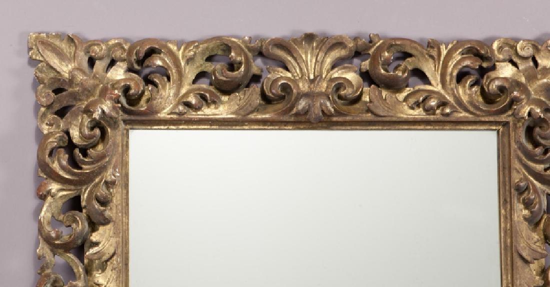Carved wood gilt framed mirror - 2