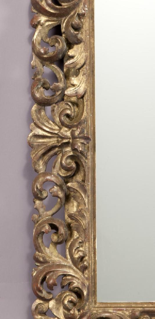 Carved wood gilt framed mirror - 3