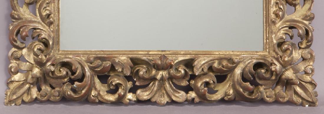 Carved wood gilt framed mirror - 4