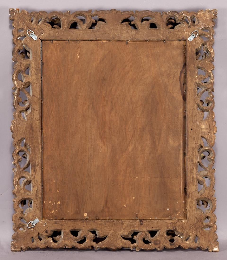 Carved wood gilt framed mirror - 5