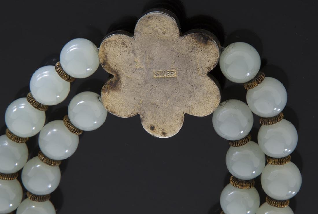 Chinese jade and silver necklace - 3