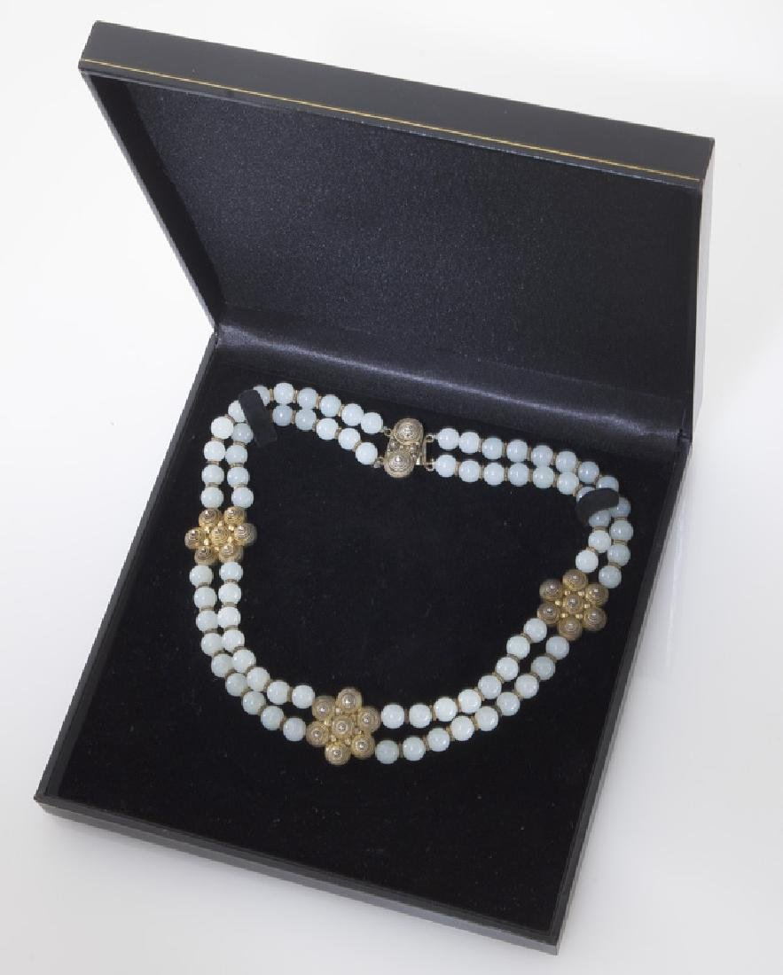 Chinese jade and silver necklace - 5