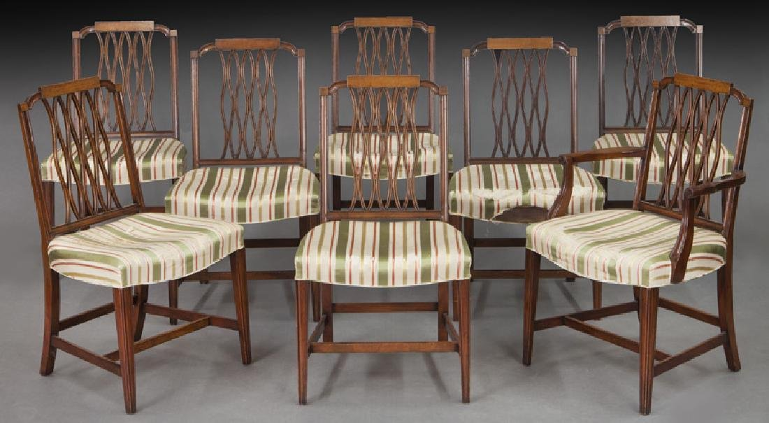 Set of (8) mahogany dining chairs (7 + 1)