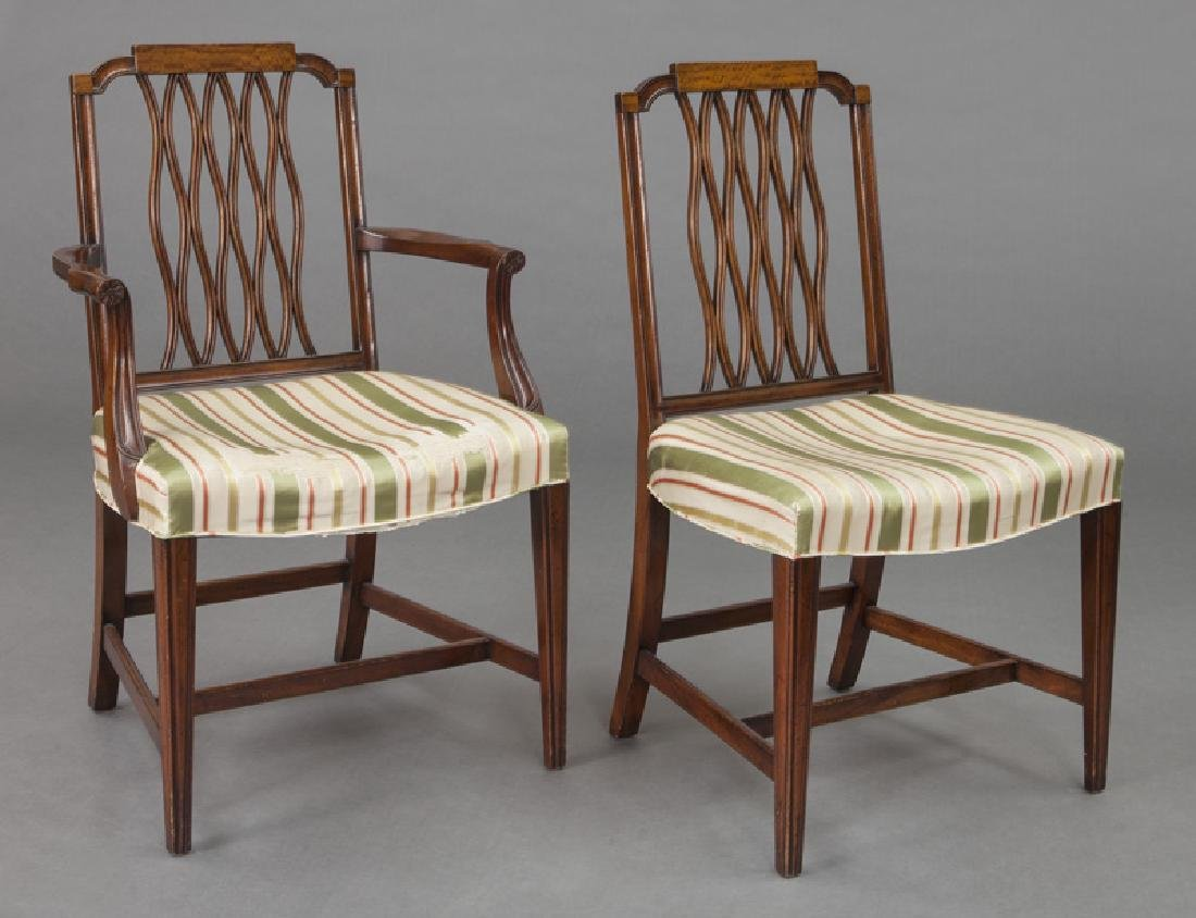 Set of (8) mahogany dining chairs (7 + 1) - 2