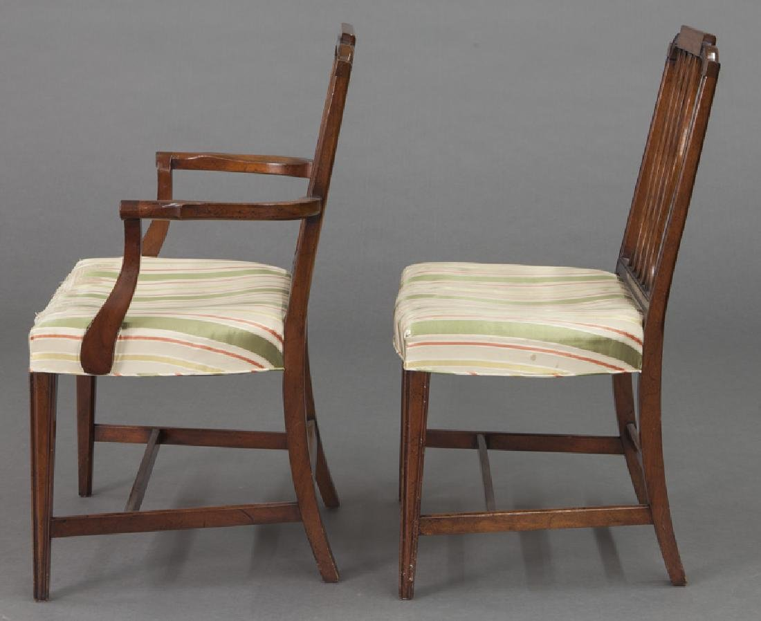 Set of (8) mahogany dining chairs (7 + 1) - 4