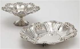 (2) Large Francis I sterling silver fruit bowls