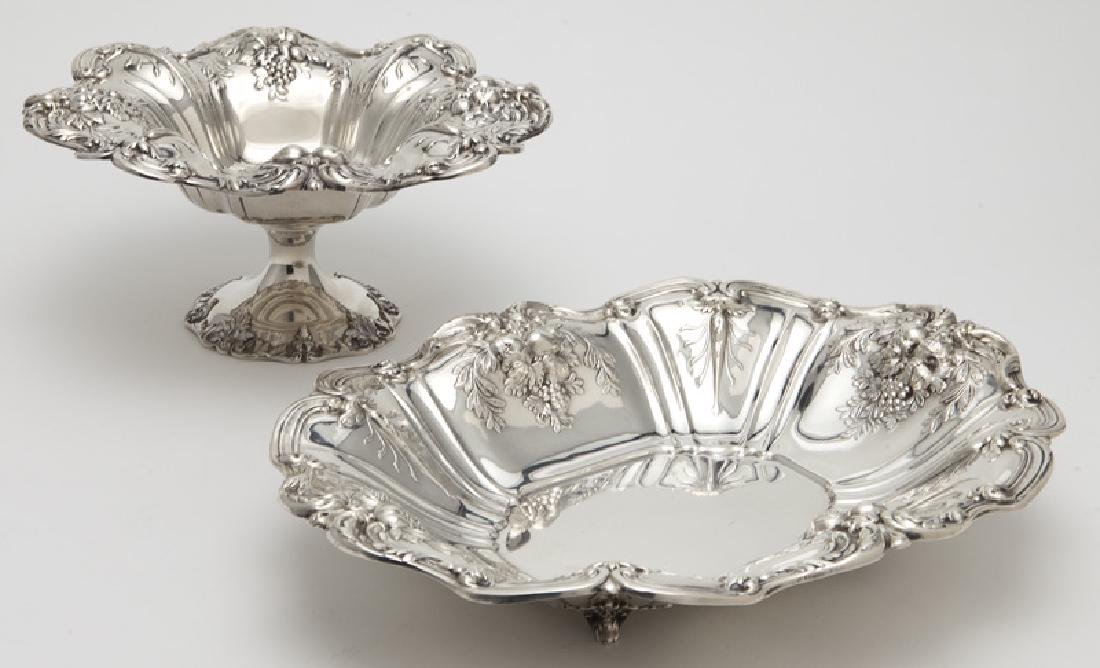 (2) Large Francis I sterling silver fruit bowls