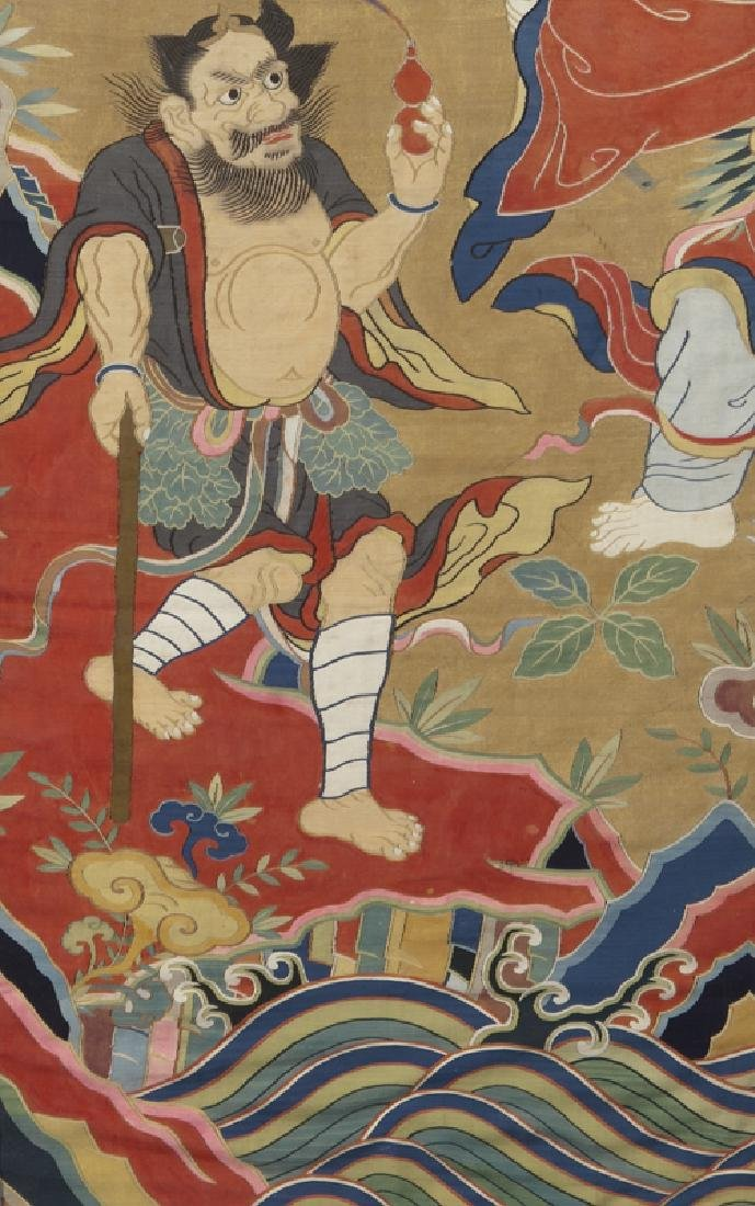 Important Chinese Qing kesi textile, - 3