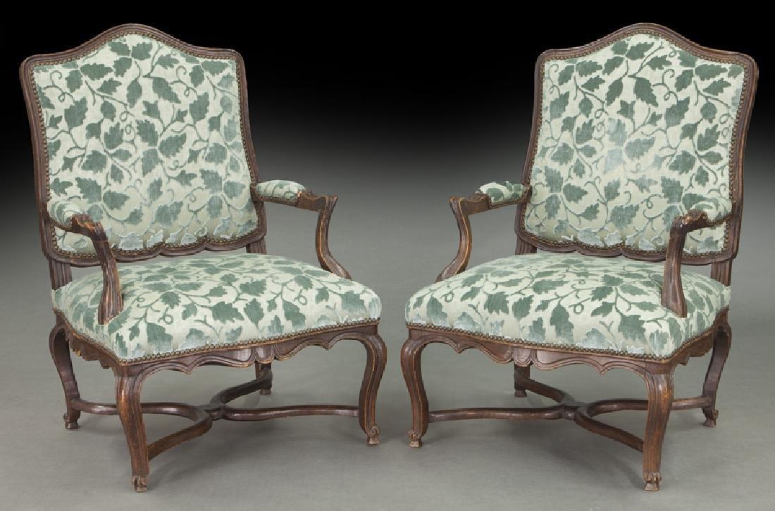 Pr. Regence style armchairs