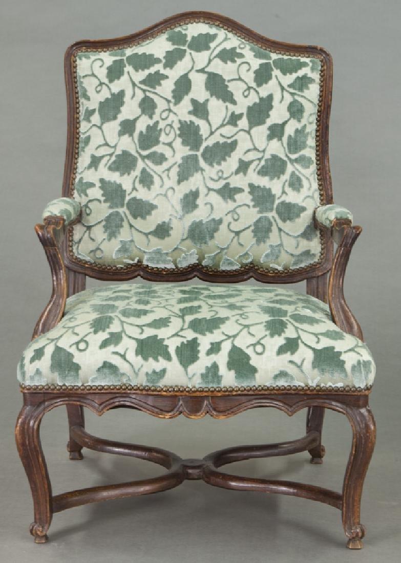 Pr. Regence style armchairs - 3