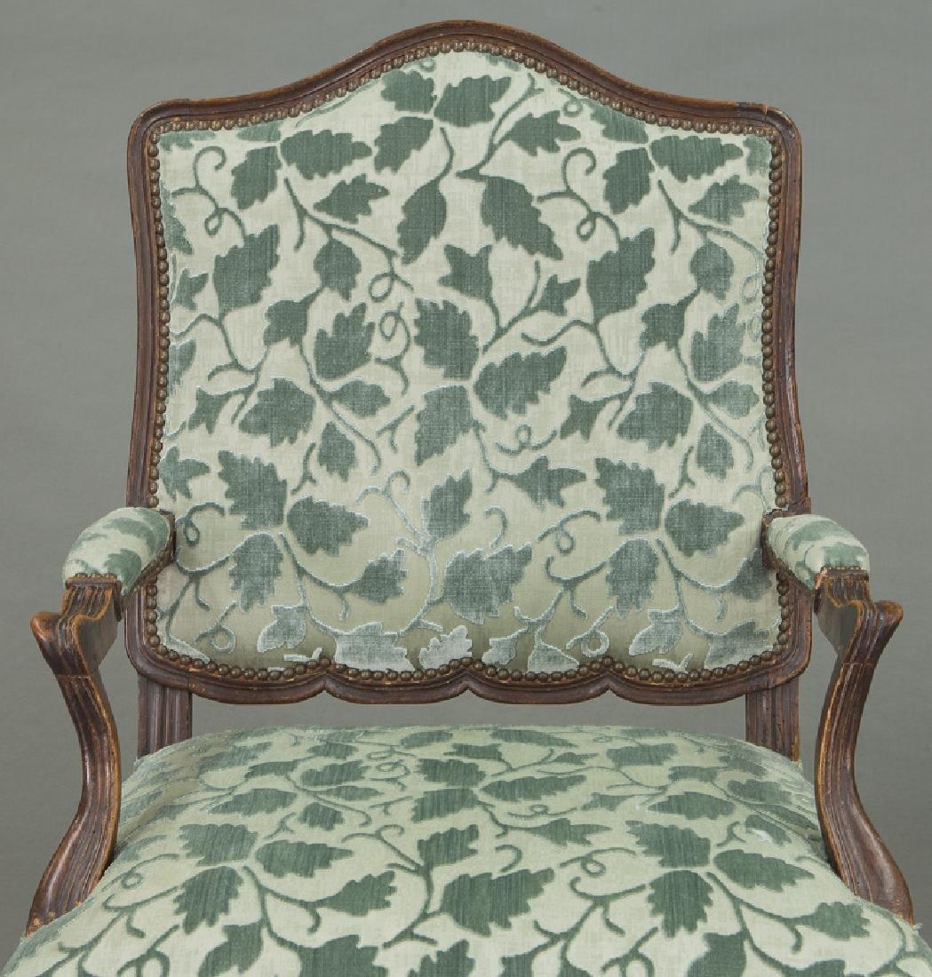 Pr. Regence style armchairs - 7